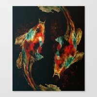 koi Canvas Prints featuring Koi by James Peart