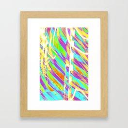 Light Dance Candy Ribs edit1 Framed Art Print