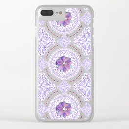 Victorian Flowers Clear iPhone Case