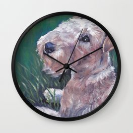 Lakeland Terrier dog art portrait from an original painting by L.A.Shepard Wall Clock