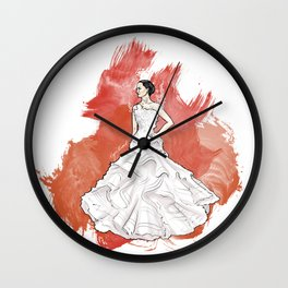 Wedding Dress Wall Clock