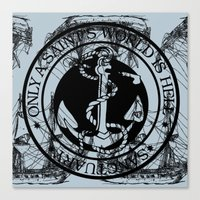 marine Canvas Prints featuring Marine by CottonMouth