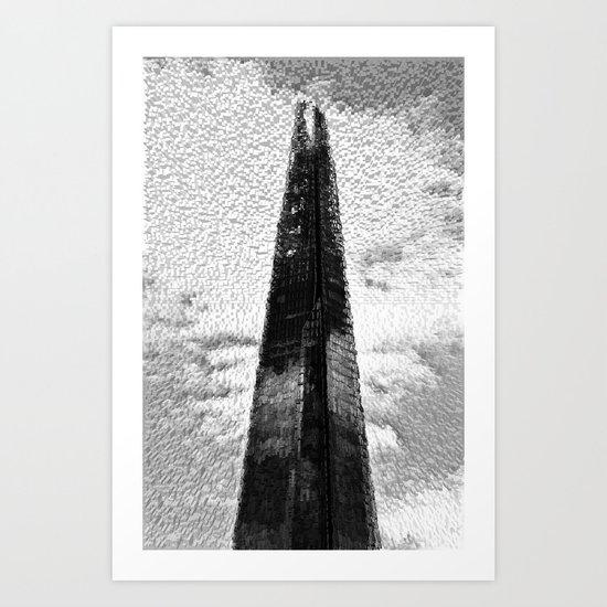 """ The Shard ""  With shards  Art Print"