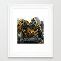 transformers Framed Art Prints featuring transformers by store2u