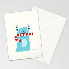 December Monsters: Candy Cane Stationery Cards