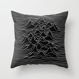 Black and white illustration - sound wave graphic Throw Pillow