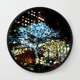 Holiday lights, Rockefeller Center, New York City, New York Wall Clock