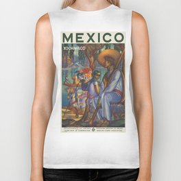 Vintage poster - Mexico Biker Tank