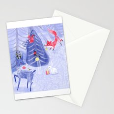 Forest Christmas Stationery Cards