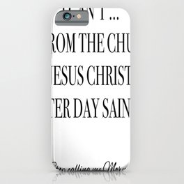 I can't iPhone Case