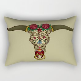 Bull sugar skull Rectangular Pillow
