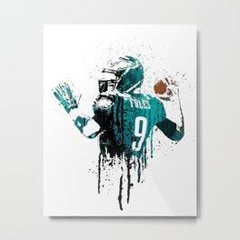 Sports art _ Nick Foles Metal Print