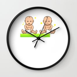 Twins are loading Pregnancy Baby Wall Clock