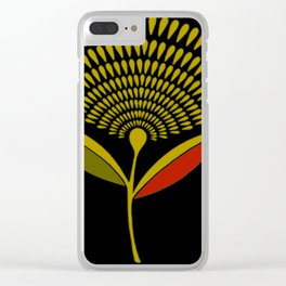 Mid Century Modern Dandelion Seed Head In Aspen Gold Clear iPhone Case