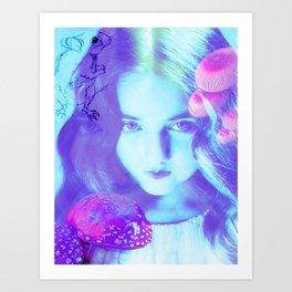Alice in Wonderland Composite- Feed Your Head Art Print