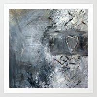 Silver hart Art Print