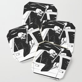 Passenger taxi grim - black and white - gothic reaper Coaster