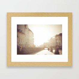 Hazed Framed Art Print