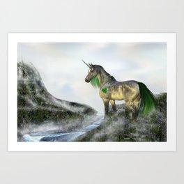 Shamrock The Unicorn Art Print