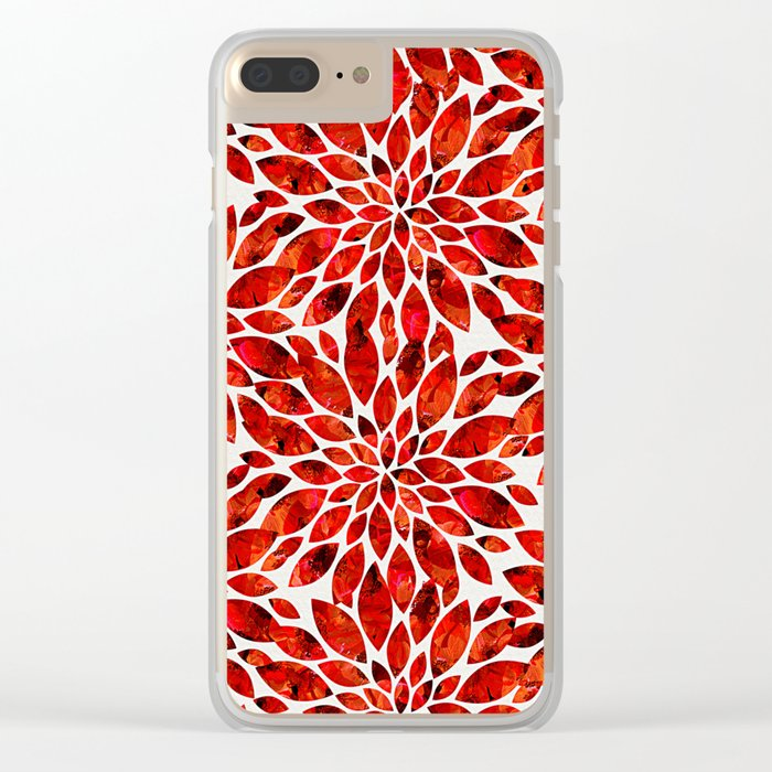 Poppy Petal Burst Clear iPhone Case