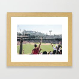 Red Sox Win in Color Framed Art Print