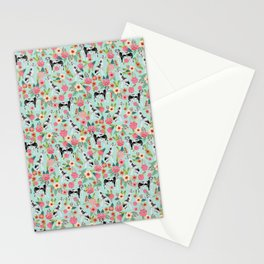 Great Dane dog breed florals mint pattern print for dog owner with great dane must have gifts Stationery Cards