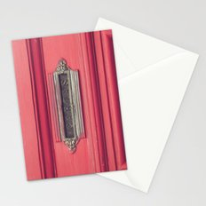 Cartas - Letters (Pink vintage door with old mailbox) Stationery Cards