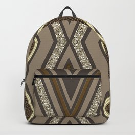 Geometric Rustic Glamour Backpack