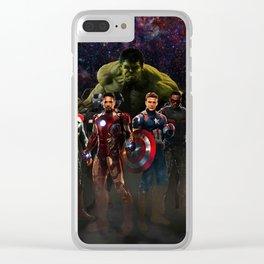 super hero Clear iPhone Case