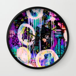 Colorful Abstract Painting Wall Clock