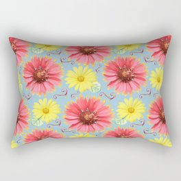 Gerber Daisies in Water Color Rectangular Pillow