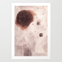 poem Art Prints featuring Landscape Poem by Margarita Mascaro