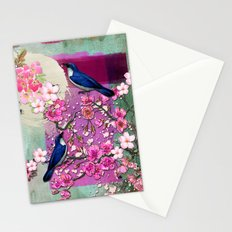 Meeting in the Garden Stationery Cards
