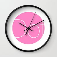 dot Wall Clocks featuring Dot by Mr and Mrs Quirynen
