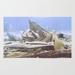 The Sea of Ice - Caspar David Friedrich Rug