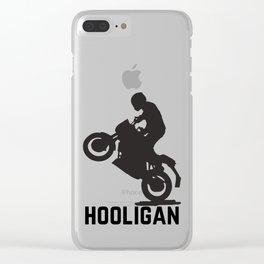 Hooligan Wheelie Clear iPhone Case