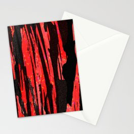Unique Abstract Scarlet and Black Design Stationery Cards