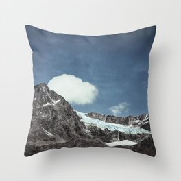 mountains and ice Throw Pillow