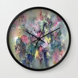 Impressionistic Watercolor of Sweet Peas Wall Clock