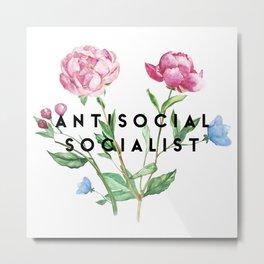 Antisocial SOcialist Metal Print