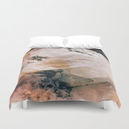 Dreamy Large Quartz Crystals Duvet Cover