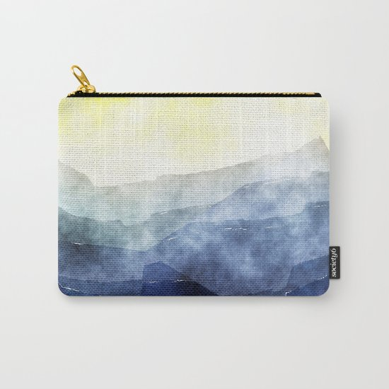 Sun behind the mountains - Modern abstract triangle pattern Carry-All Pouch