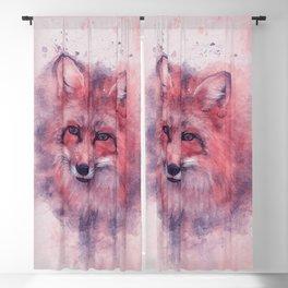 Red fox art Blackout Curtain