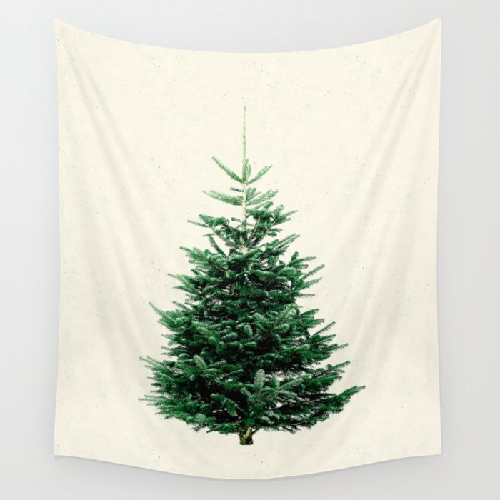 Christmas tree, a stylish alternative to a traditional one. Wall Tapestry