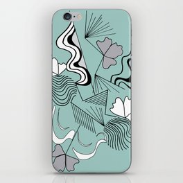 Lines and design with and original japanese style for decoration, workart, furniture, clothes iPhone Skin