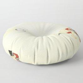 Samurai Farting On A Cat - Funny - Japanese - Samurai Floor Pillow