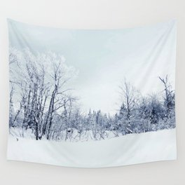 Freezing trees in a winterland decor Wall Tapestry