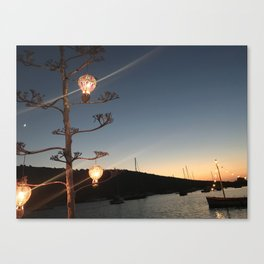 bodrum sunset Canvas Print