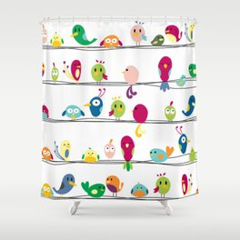 Singing Monsters Shower Curtain