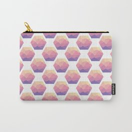 Low poly hexagons Carry-All Pouch